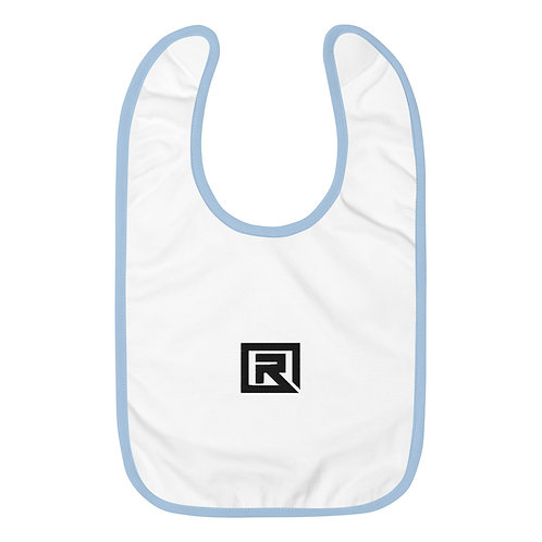 R! Embroidered Baby Bib