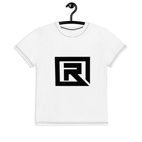 R! Youth crew neck t-shirt (White)