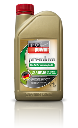 Maxxpower Premium Lubrifiant moteur 5W-40 100% de Synthèse 1 litre
