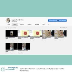 Creating a Youtube channel to collect every video about printing with bio-materials. With these video's, we will make posters with QR-code to instruct the people who would like to print.   #Youtube #Instructions