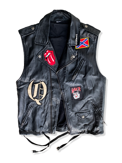Faux Leather Patched Vest