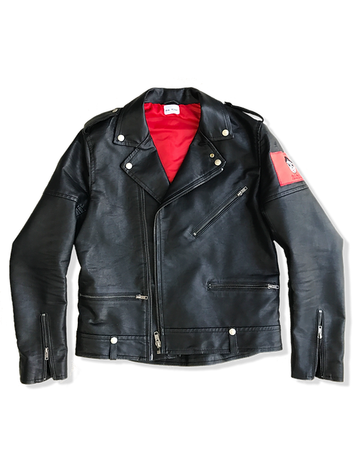 Faux Leather Jacket (red)