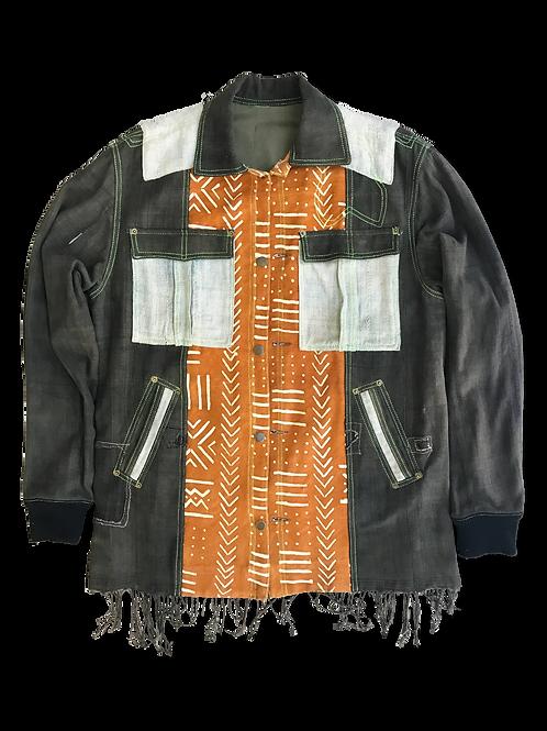 African Denim Jacket