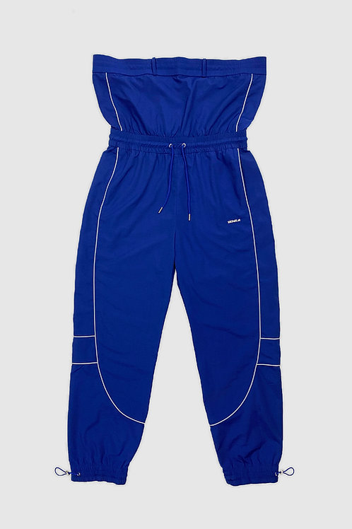 Extended Waist Windbreaker Pants in Blue (set)