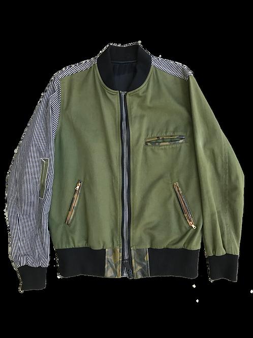 Mixed Bomber Jacket