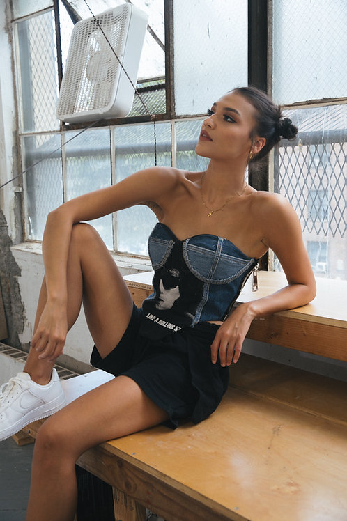 'Like A Rolling Stone' Upcycled Bustier