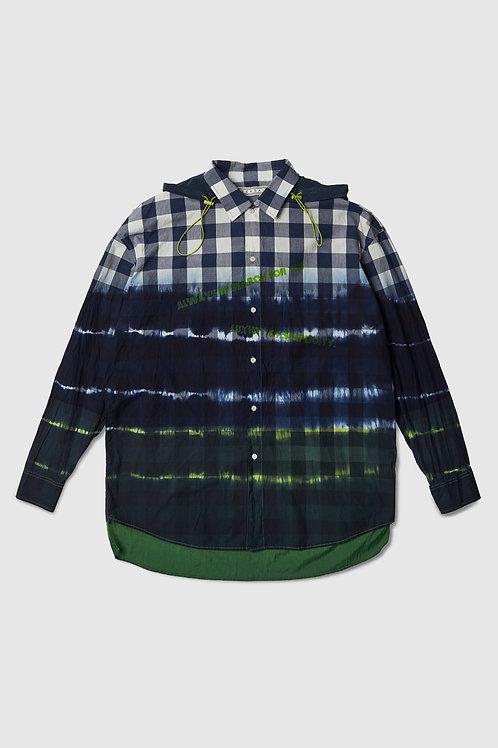 Neon Dipped Plaid Shirt