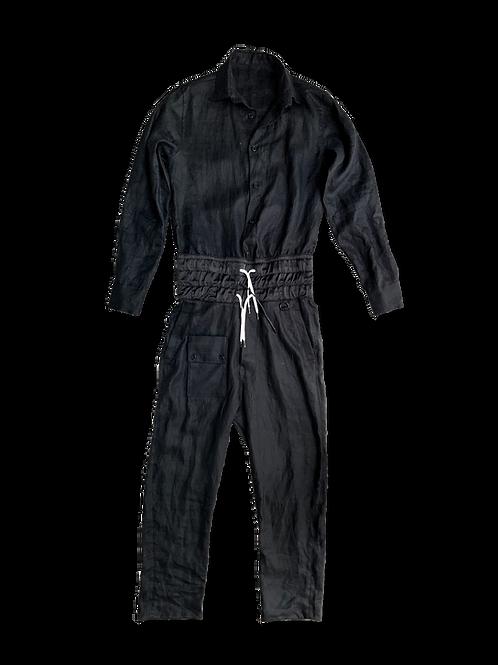 Black Linen Jumpsuit