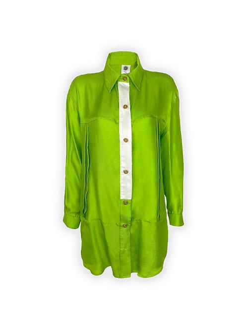 Silk Button Down Dress