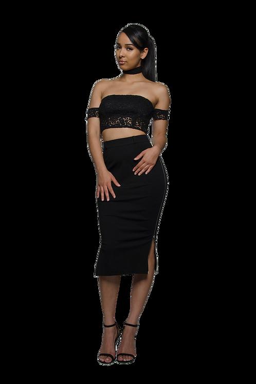 JADE | Black Zipper Skirt