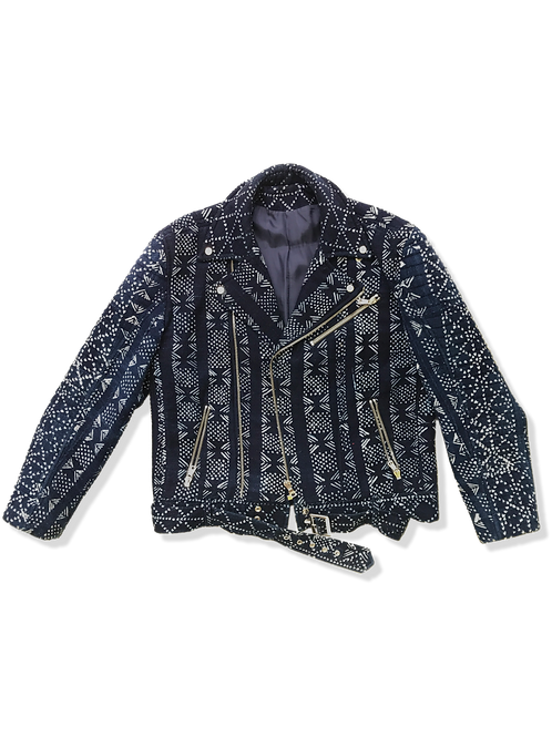 African Indigo Moto Jacket