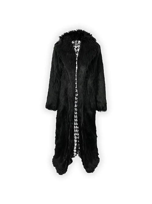 Black Floor Length Fur