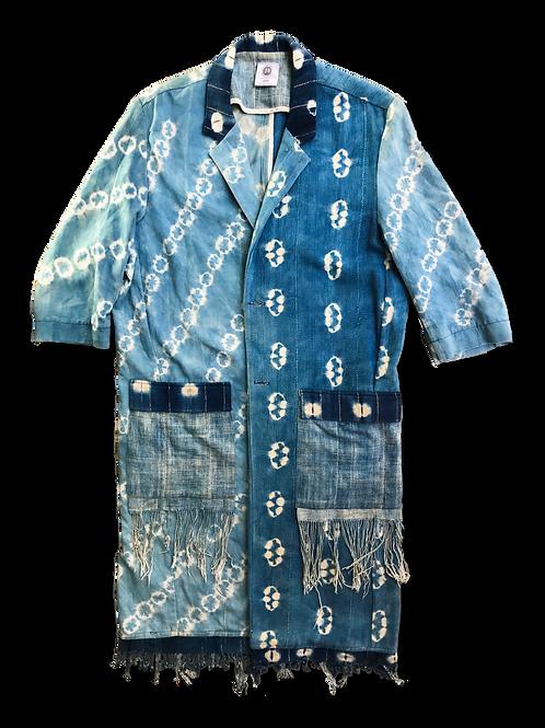 Mixed Indigo Coat