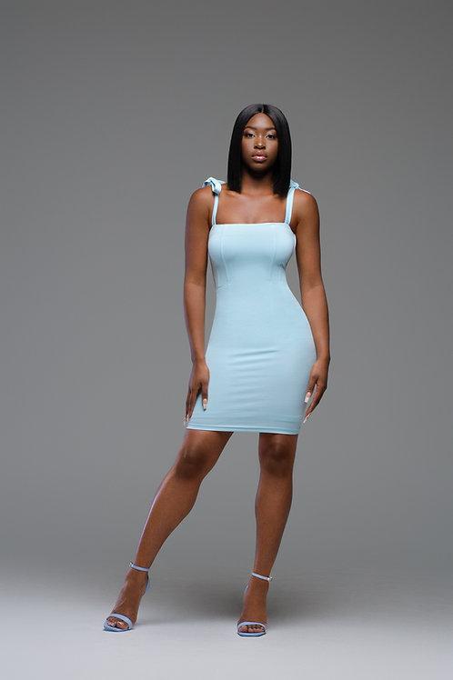 Soraya   Blue Baby Doll Dress