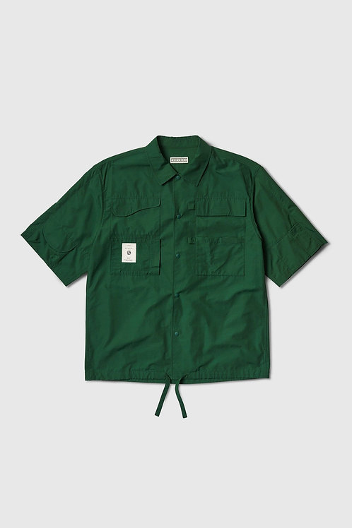 6 Pocket Workers Shirt in Green