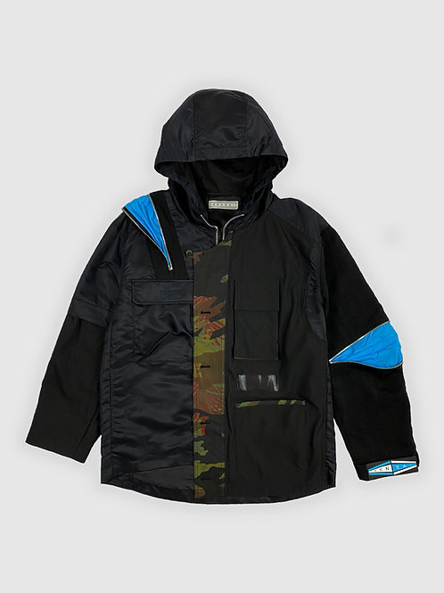 Half-Sleeve Zip-off w/ Azure Parka