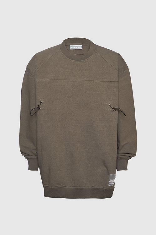 Bungee Crewneck Pullover in Brown