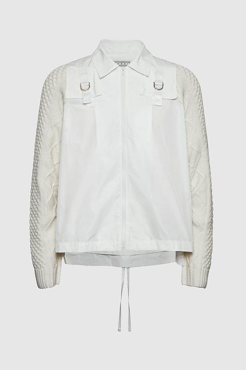 Knit Windbreaker in White