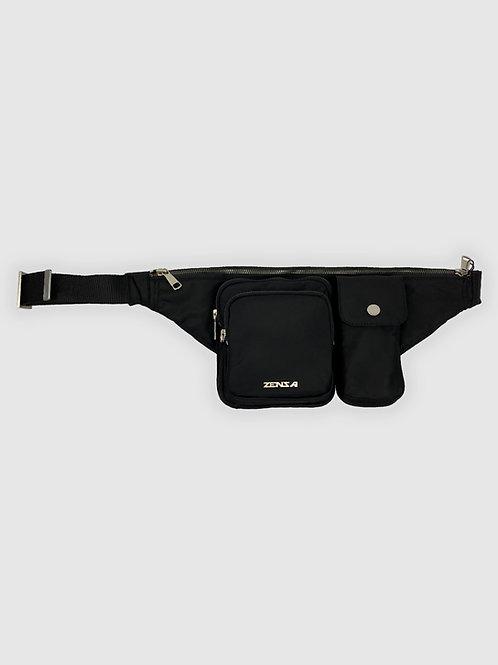 Crossbody Belt Bag in Black