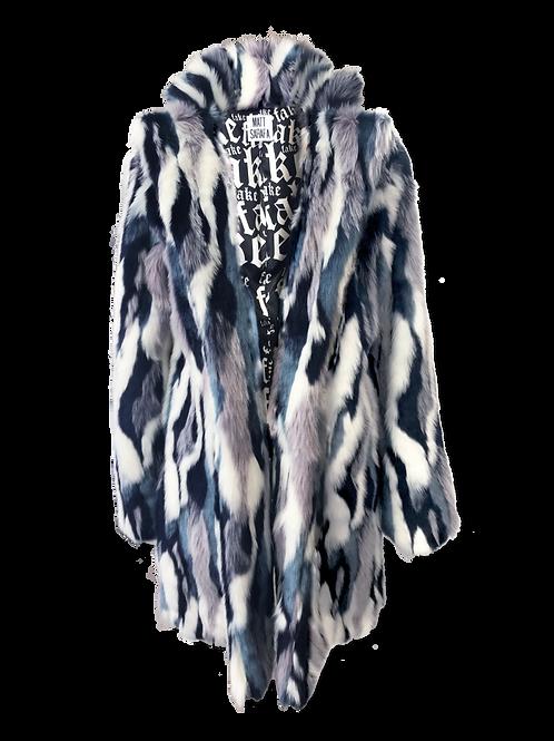 Blue Multi Faux Fur