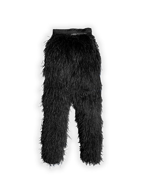 Ostrich Feather Pants