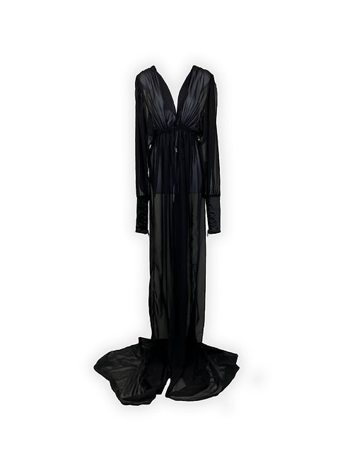 Chiffon Floor Draped Robe