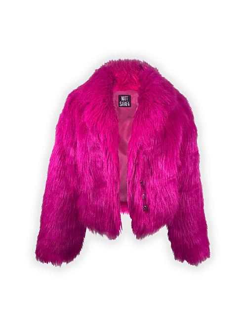 Hot Pink Cropped Fur