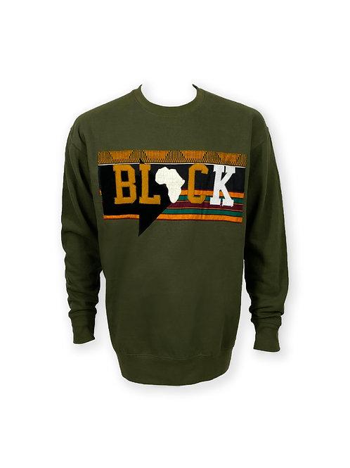 'BLACK' Crewneck Sweater