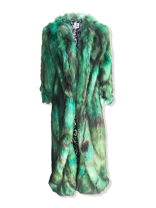Hand Dyed Emerald Faux Fur