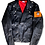 Thumbnail: Faux Leather Jacket (orange)