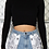 Thumbnail: WILHELMINA | Chain-Back Cropped Sweater