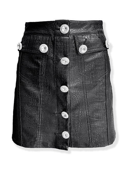 Croc Embossed Skirt