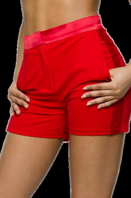 SWEETHEART | Red Tuxedo Dress Shorts [set]