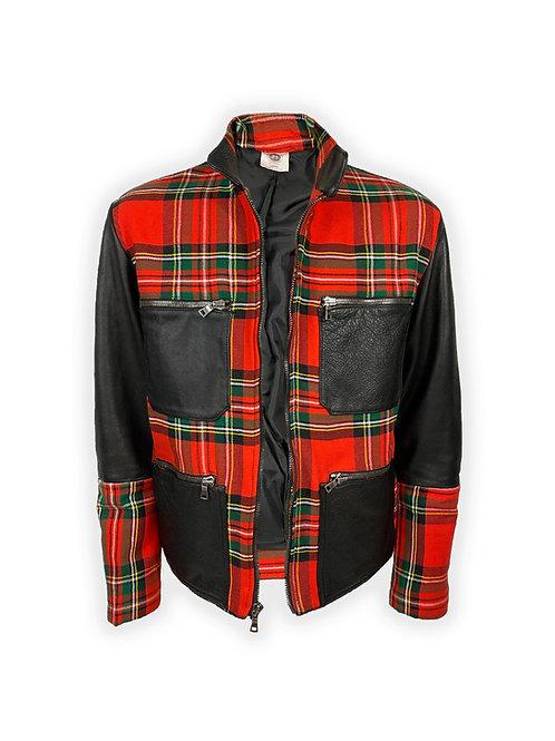 Tartan Leather Jacket