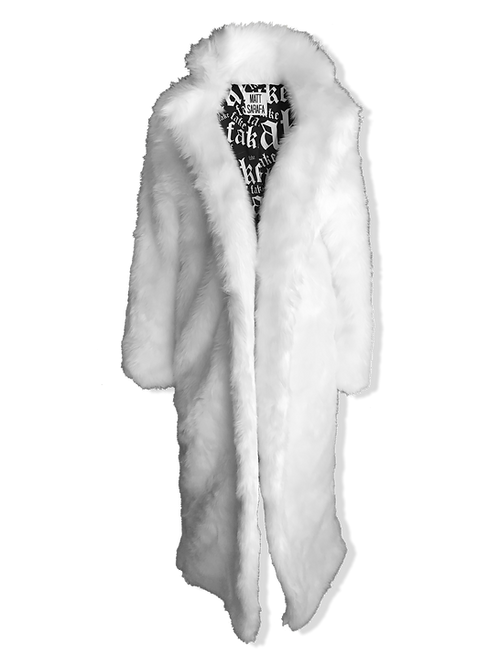 Floor Length White Faux Fur
