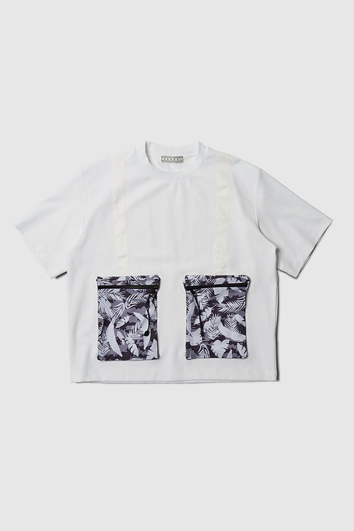 Double Pocket Tee in White