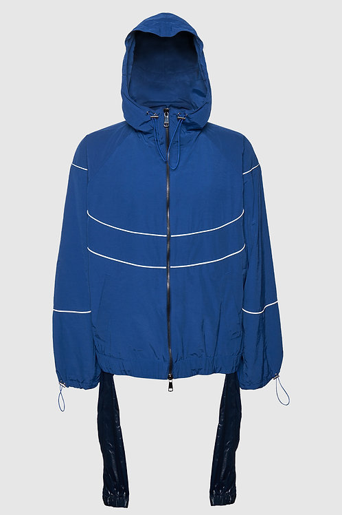 Waist Tie Windbreaker in Blue (set)
