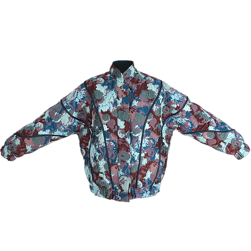 Blue Flower Orbit Bomber Jacket F8KE CHEMICAL CLUB - Vytal Fashion Showroom