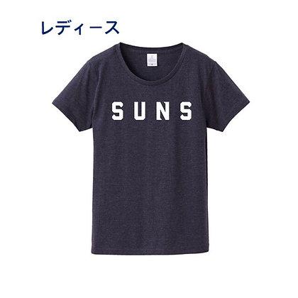Tシャツ【SUNS】ネイビー(レディース)