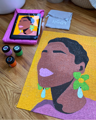 JIGGY Puzzles  - one-of-a-kind puzzle  Collaboration with a female-founded puzzle company based in New York.