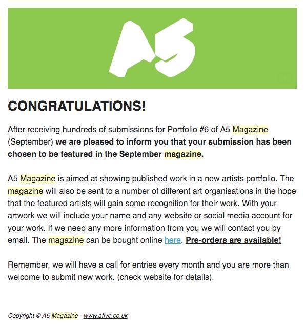 A5 Magazine, Portfolio #6