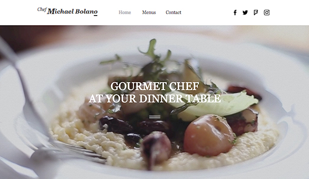 Event Production website templates – Private Chef