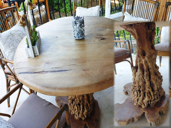 round table rosewood with olivetree foot