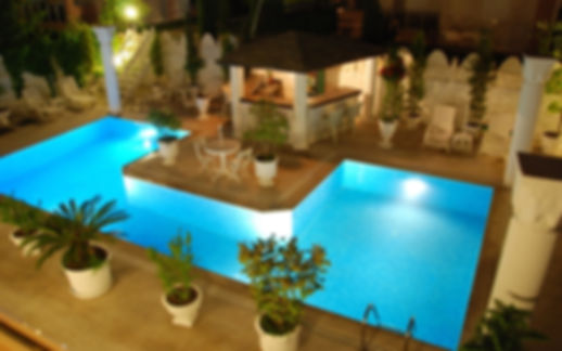 The pool from connys hotel Side Turkey is cosey and very clean