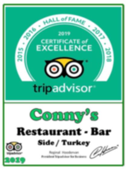 tripadvisor restaurant winner certificat