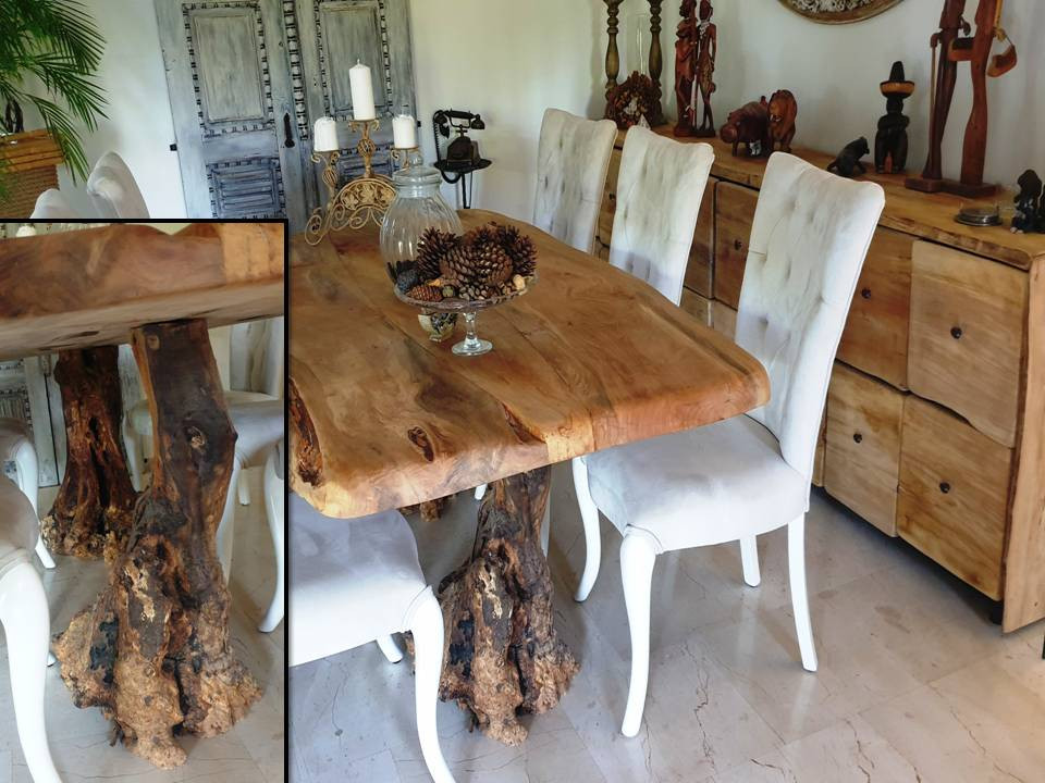 dining table rosewood with 2 olivetree f