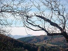 uitzicht van camping Lacube op de Puy de Dome