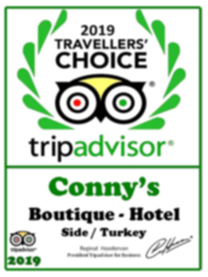tripadvisor hotel winner certificate exc
