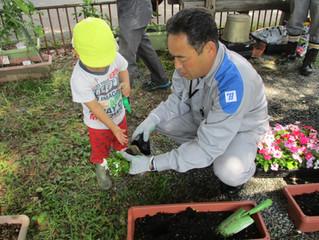 九州電力花植え訪問