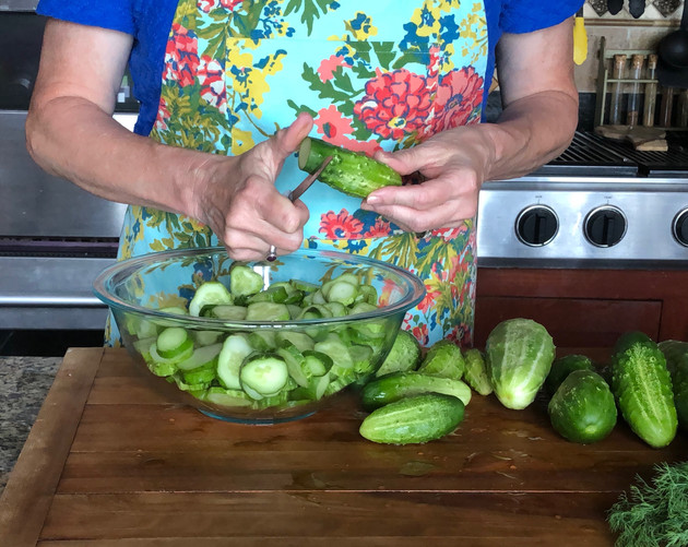 Making Pickles- Dill Sandwich Slices